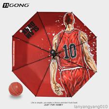 Red Umbrella Slamdunk Anime Hanamichi Sakuragi Folding Umbrella Japanese Mascot