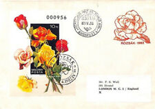 BL296 1982 Hungary FLOWERS MINIATURE SHEET FDC Budapest Cover ROSES {samwells}