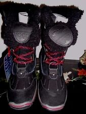 PAJAR CANADA ALINA 7M BLACK SUEDE & LEATHER W/FAUX FUR LINED SNOW BOOTS NEW