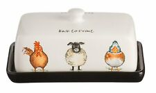 Price & Kensington Back to Front Ceramic Butter Dish with Lid