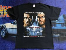 Vintage Boxing Fight Shirt Manny Pacquiao VS Hatton Size Large East West EUC