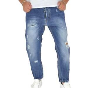 Pantaloni Jeans scuro denim biker. Skinny fit.Chiusura con bottone e cerniera. s