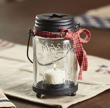 Mason Jar Tealight Candle Holder Star Rustic Farmhouse Primitive Home Decor