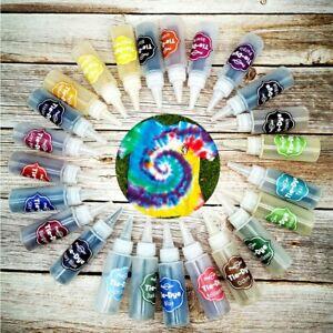 3/5/24Colors One Step Tie Dye Kit Decorating Textile Paints DIY Permanent Fabric
