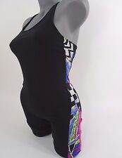 Vintage 80s 90s Aerobics Leotard Dance size M Black