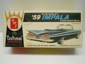 "VINTAGE AMT ""CRAFTSMAN ""1959 Chevy Impala Convertible 1/25 SCALE screw bottom"