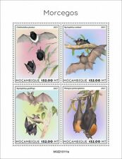 More details for mozambique 2021 mnh wild animals stamps bats flying mammals fauna 4v m/s