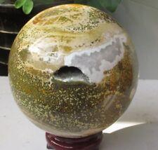 5416g  NATURAL Pretty Ocean Jasper QUARTZ CRYSTAL SPHERE ball healing *