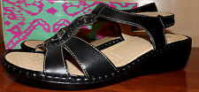 BAY STUDIO WEDGE SLINGBACK STRAP BLACK WEDGE SANDALS WOMEN'S NEW SIZE 9.5 SHOES