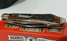 MARBLES GUTHOOK BONE HUNTING POCKET KNIFE BULLET TRAPPER LINER-LOCK !!!