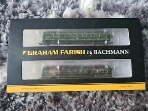 N gauge graham farish 371-504 Class 101. Two Car DMU BR Green DCC READY