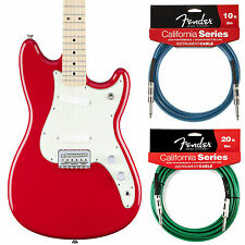 Fender Duo Sonic Offset Series Torino Red Guitar - Includes 2 California Cables!
