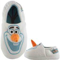 Boys Girls Disney Frozen/Mule Slippers Sizes 6-2 Slipper Boot Olaf 3D