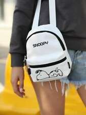 PEANUTS SNOOPY WHITE MINI BACKPACK NEW
