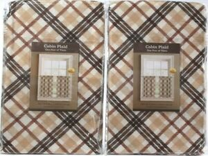 """2 Packages Colordrift Pair Of Tiers 58""""W x 24""""L Cabin Plaid 200-417 One Size"""