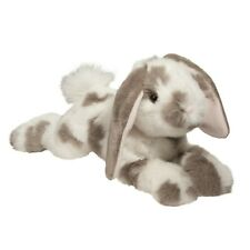 RAMSEY the Plush GRAY SPOTTED BUNNY Stuffed Animal - Douglas Cuddle Toys #14862