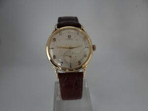 Omega Sub Seconds Fancy Lugs 14K Solid Gold Automatic Bumper Cal 342 Vintage