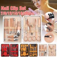 20 Piece Manicure Pedicure Nail Care Set Cutter Cuticle Clippers Kit Case