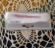 NEW ♡  HAPPY ANNIVERSARY IN RED ♡ PARTY RIBBON FAVOR TIES ♡ 1 Bag of 25