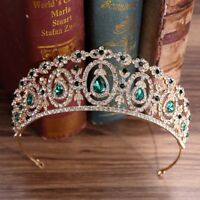 Crystal Queen Princess Crown Tiaras Rhinestone Diadem Wedding Hair Accessories