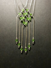 9 Carat White Gold necklace with Peridots