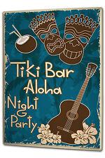 Tin Sign XXL Nostalgic Alcohol Retro Tiki Bar Aloha party metal plate plaque