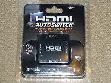 3 PORT HDMI AUTO SWITCH BRAND NEW! Switcher Switchbox 1080p PS3 No Power Needed