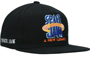 Mitchell & Ness x Space Jam 2 A New Legacy NBA Snapback Hat Black Cap Flat Brim