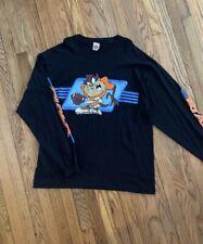 Vintage 1997 Taz Looney Tunes Football T-Shirt Usa Made Single Stitch Size Large