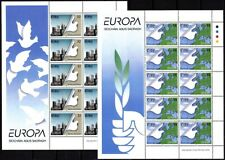 IRELAND 1995 EUROPA: Peace and Freedom. Dove Map Architecture. 2 MINI-SHEETS MNH