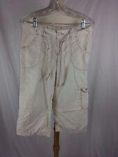 Calvin Klein Jeans WOMEN'S Khaki Cargo Capri PANTS SZ 6 32 x 20