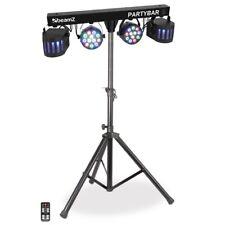 LED PARTYBAR 2 PAR Scheinwerfer Disco Derby inkl. Stativ und Fernbedienung DJ
