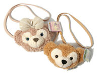 Tokyo Disney Duffy Bear ShellieMay Face Soft Shoulder Plush Toy Bag Gifts