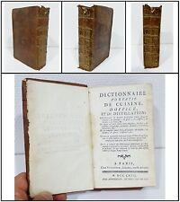COLLECTIF, Dictionnaire portatif de Cuisine, d'Office et de Distillation », 1767