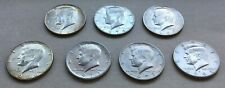 LOT of 7 UNITED STATES KENNEDY HALF DOLLAR ESTATE COINS 1966 1969 1971 1974 1977