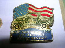 PIN'S  VOITURES / JEEP RENAULT  / RAID SANFRANCISCO LOS ANGELES