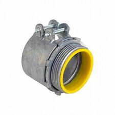 Orbit OF740-S Zinc Flex 4 Inch Squeeze Connector with Insulated Throat