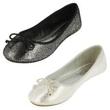 Chaussures noires à enfiler pour fille de 2 à 16 ans