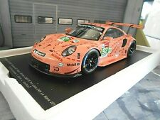 PORSCHE 911 991 RSR Le Mans Class Winner Pink Pig #92 Estre Vanth NEU Spark 1:18