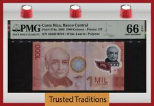 TT PK 274a 2009 COSTA RICA 1000 COLONES B. COLINA PMG 66 EPQ GEM UNCIRCULATED!