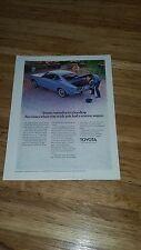 "1972  Toyota Corona Vintage Magazine Ad ""Toyota introduces a hardtop."""