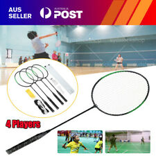 AU 4 Players Badminton Racquet Set Racket / 2 Shuttlecocks / Net / Poles / Bag A
