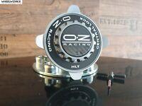 Original OZ Felgendeckel Centerlock schwarz silber 55 mm Formula HLT NEU!