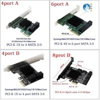 PCIe to SATA3.0 4Port 6Port 8Port SATA III Expansion Controller Adapter Card