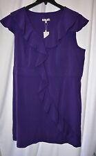 New Spense Women's Plus Size 24W Cap Sleeve Purple Ruffle Summer Dress