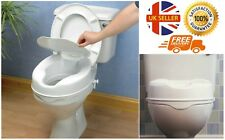 White 4 Inch Raised Elevated Toilet Seat Toileting Disability Aid With Lid