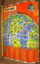 2000  Matchbox  Promotional  Poster Contains All 100 Cars     HWM2-083119