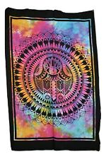Hamsa Hand Cotton Tie Dye Wall Hanging Fair Trade Size Approx. 78 x 116 cm
