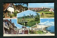 c1960s Multiviews of Sussex: Mermaid Inn Rye: Cottage: Rottingdean: Alfiston