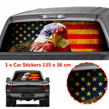 American Eagle Flag Car SUV Rear Window Graphic Decals Tint Stickers 135x36cm